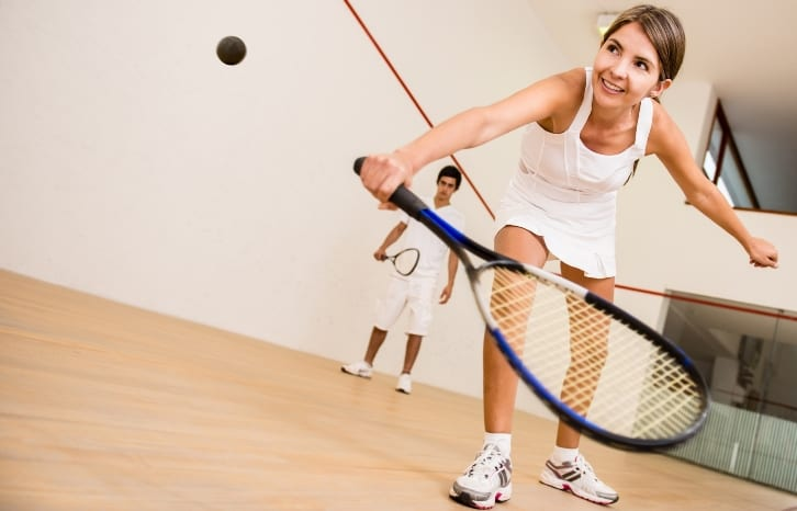 Squash players - Woman and man